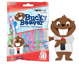 Bucky Beaver with Flosser Piks